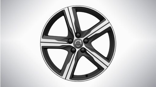 "V90 19"" 5-Spoke Matt Black Diamond Cut Alloy Wheel"